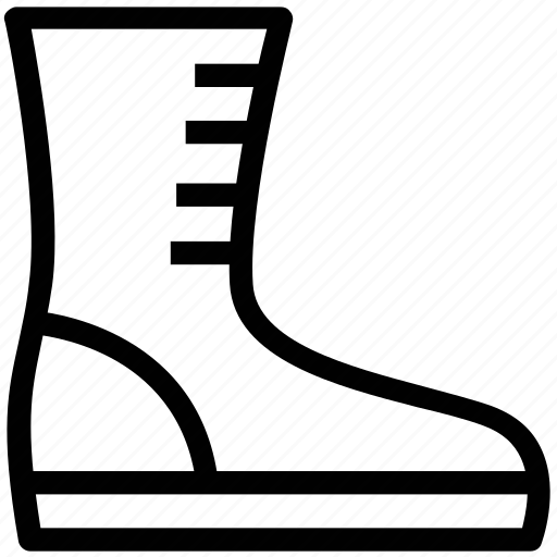 footgear, footwear, rain boot, rain shoe, supportive boot icon