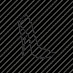 dress shoe, heel, heels, high heel, stiletto heel, womens shoe icon