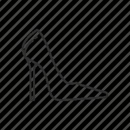 dress shoe, heel, heels, high heel, stiletto heel, toe pain, womens shoe icon