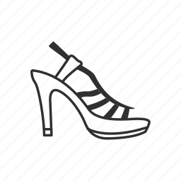 dress shoe, heels, high heels, loop back heels, stiletto heel, toe pain, womens shoe icon