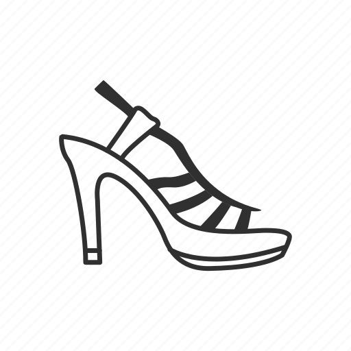 dress shoe, heels, high heels, loop back heels, stiletto heel, toe pain, womens shoe icon