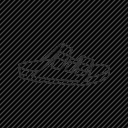 arizona, birkenstock, birks, leather sandal, sandal, two strap sandal icon