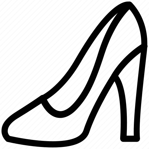 almond-toe pump, footgear, footwear, ladies, pump, shoe icon