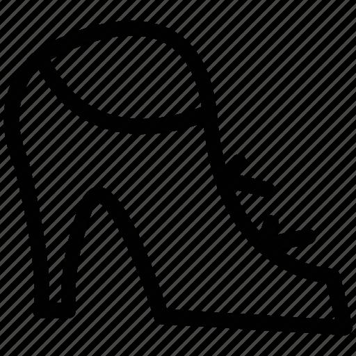 footgear, footwear, high heel, ladies, peep-toe platform icon