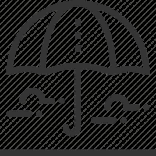 assurance, insurance, protection, rain, umbrella icon