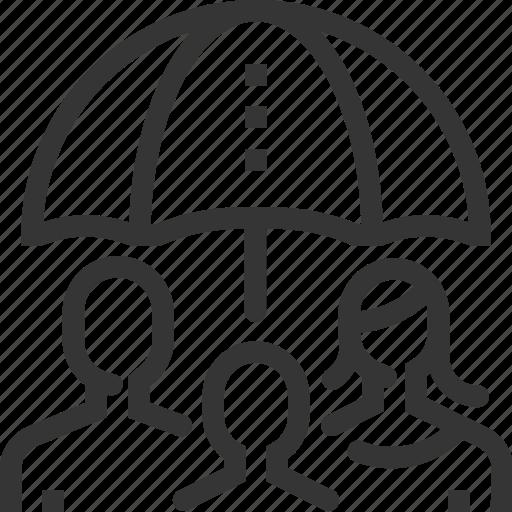 assurance, child, family insurance, health, life, protection, umbrella icon