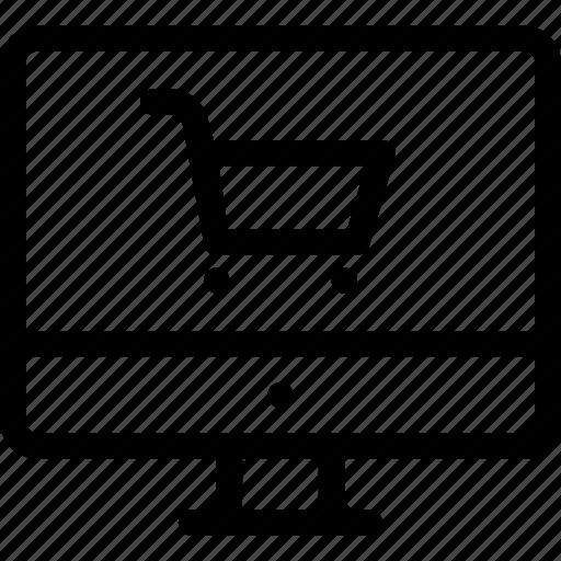 cart, computer, shop, trolley, web icon