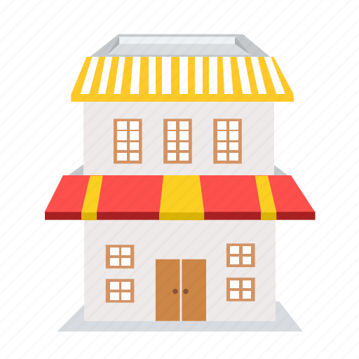 building, cafe, direction, home, house, market, shop icon