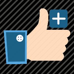 accept, add, facebook, good, like, ok, share icon