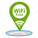cafe, free, map, navigator, wifi icon