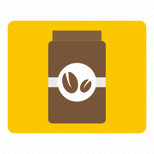brown, caffeine, coffee, drink, food, jar, lid icon