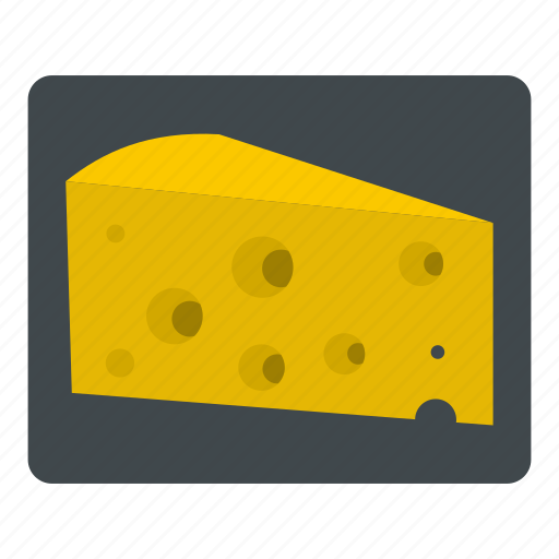 cheese, dairy, gourmet, hole, product, snack, triangle icon