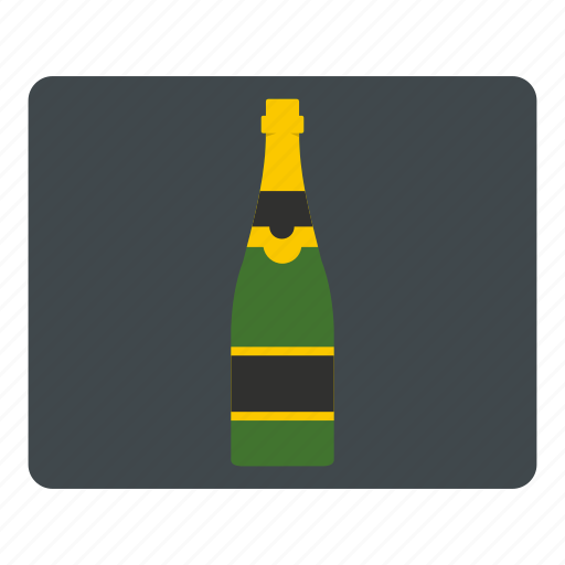 alcohol, bottle, champagne, drink, french, glass, label icon
