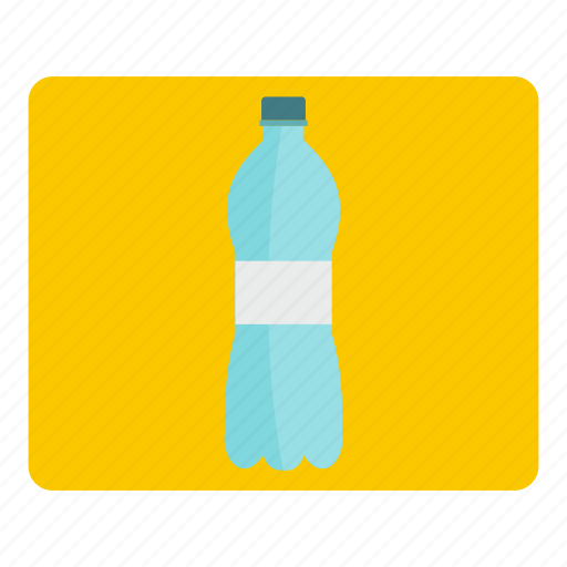 blue, bottle, container, plastic, transparent, water, white icon
