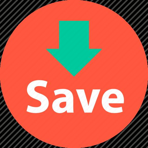 arrow, down, sale, shop icon