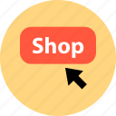 click, sale, shop icon