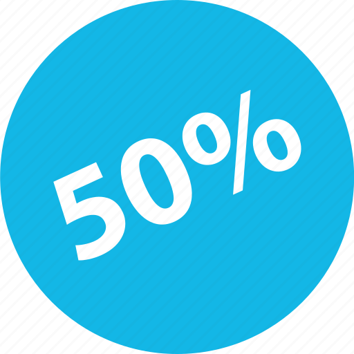 fifty, percent, sale, shop icon