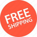 free, sale, shipping, shop icon