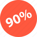 ninety, percent, sale, shop icon