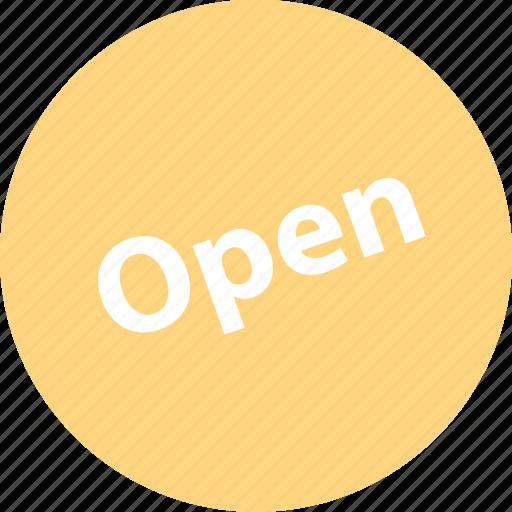 open, open now, sale, shop icon