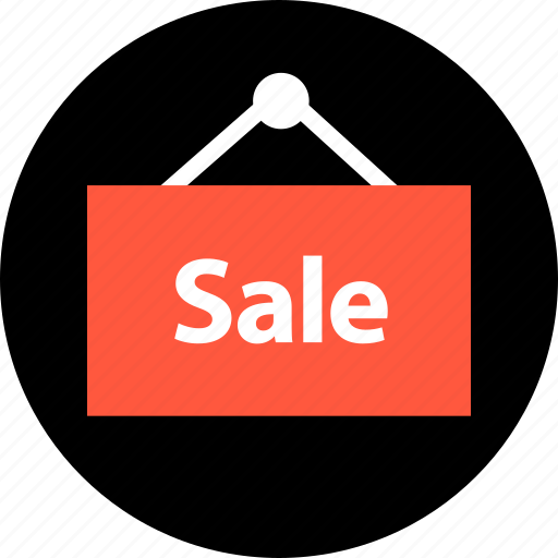 sale, shop, sign icon