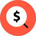 bought, buying, dollar, merchandise, search, shopping, sold icon