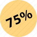 five, percent, sale, seventy, shop icon