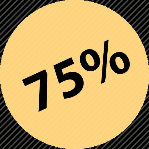 five, percent, sale, seventy, shop icon