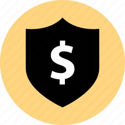 bought, buying, dollar, merchandise, shield, shopping, sold icon