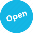 open, sale, shop icon