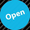 open, sale, shop