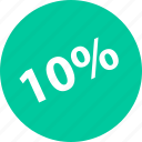percent, sale, shop, ten icon