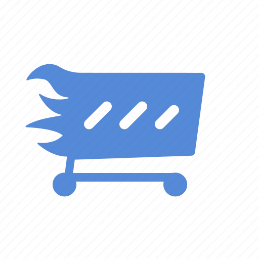 basket, buy, cart, ecommerce, fast, fire, shipping, shop cart, shopping, webshop icon