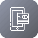 account, bank, financial, mobile, money, payment icon