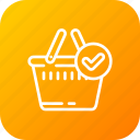 bag, cart, complete, ecommerce, ok, shopping icon