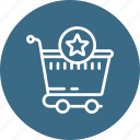 bag, cart, checkmark, complete, ecommerce, shopping, star icon