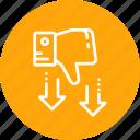 dislike, down, rate, rating, thumb icon