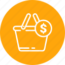 bag, cart, complete, dollar, ecommerce, shopping icon