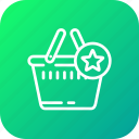 bag, cart, complete, ecommerce, shopping, star icon