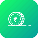cash, coin, currency, finance, gold, money, rupees icon
