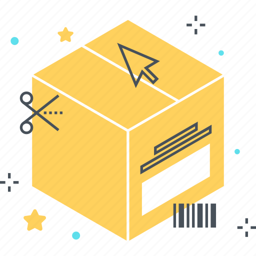 box, cardboard, delivery, number, online, shopping, tracking icon