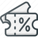 discount, gift, present, shop, voucher icon