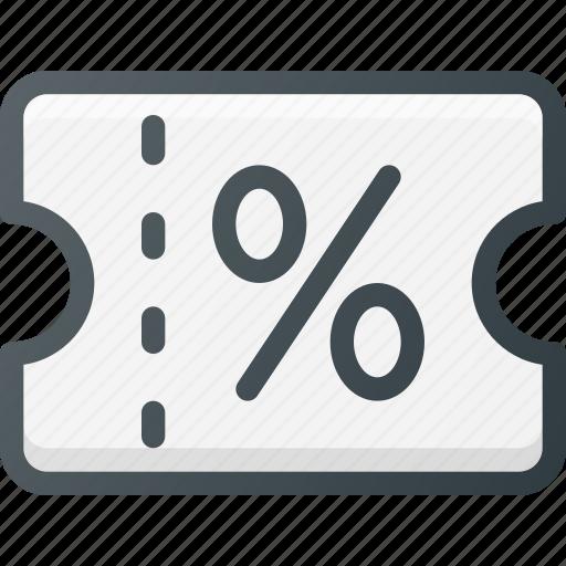 discount, gift, present, shop, voucher icon