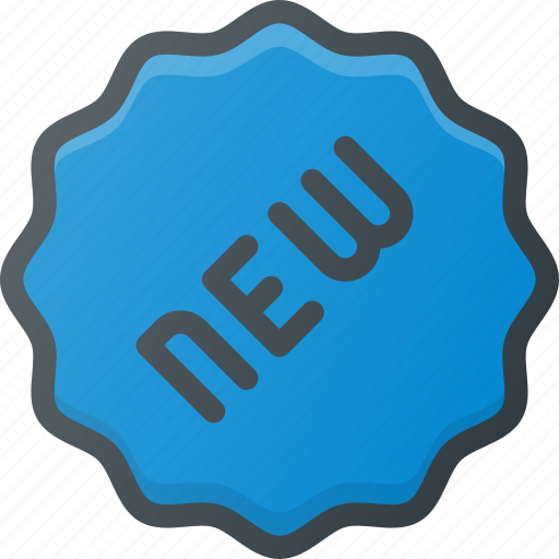 label, new, sale, shop, sticker icon
