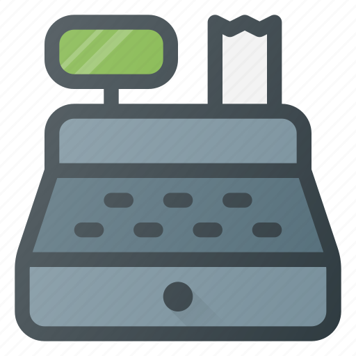 money, pay, payment, register, registry icon