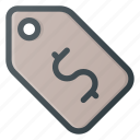 label, money, price, tag icon