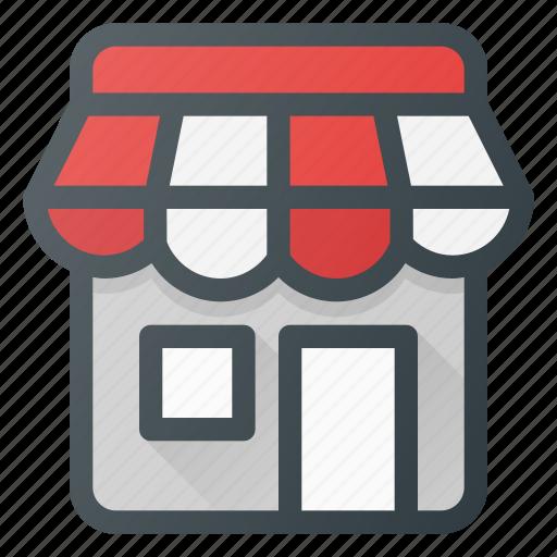 building, local, shop, store icon