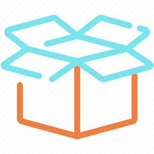 box, delivery, logistics, open, package, present, shipping icon