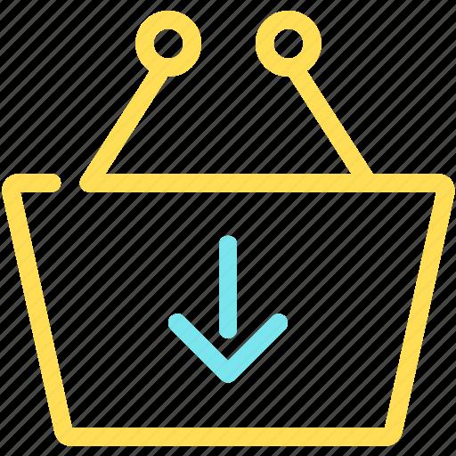 basket, download, ecommerce, shopping, shopping basket, shoppingstore icon