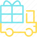 box, delivery, logistics, lorry, present, shipping, truck icon